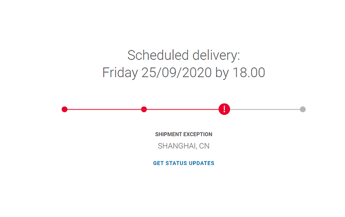 Shipment exception