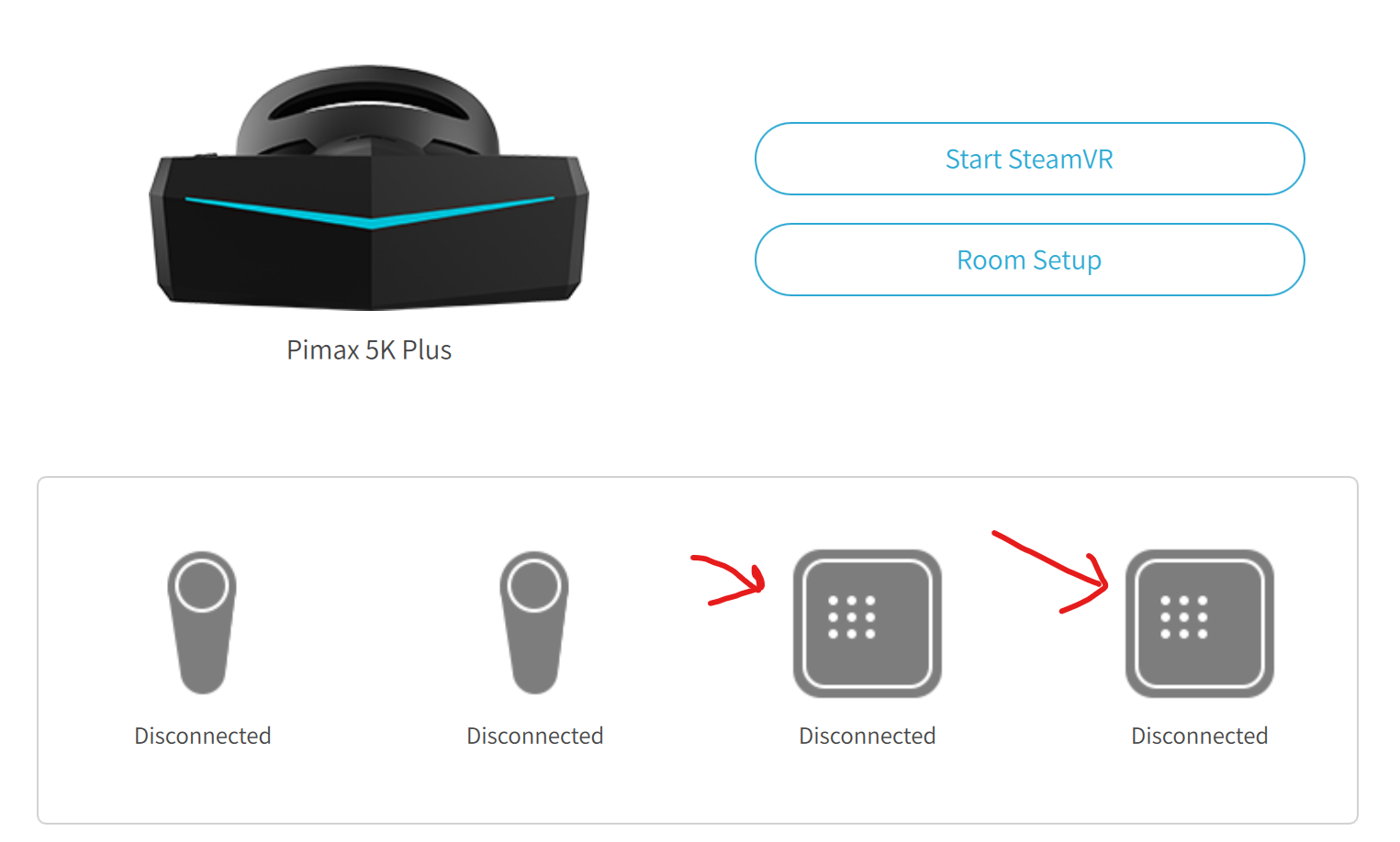 Trackers not working with Pimax after new SteamVR Update