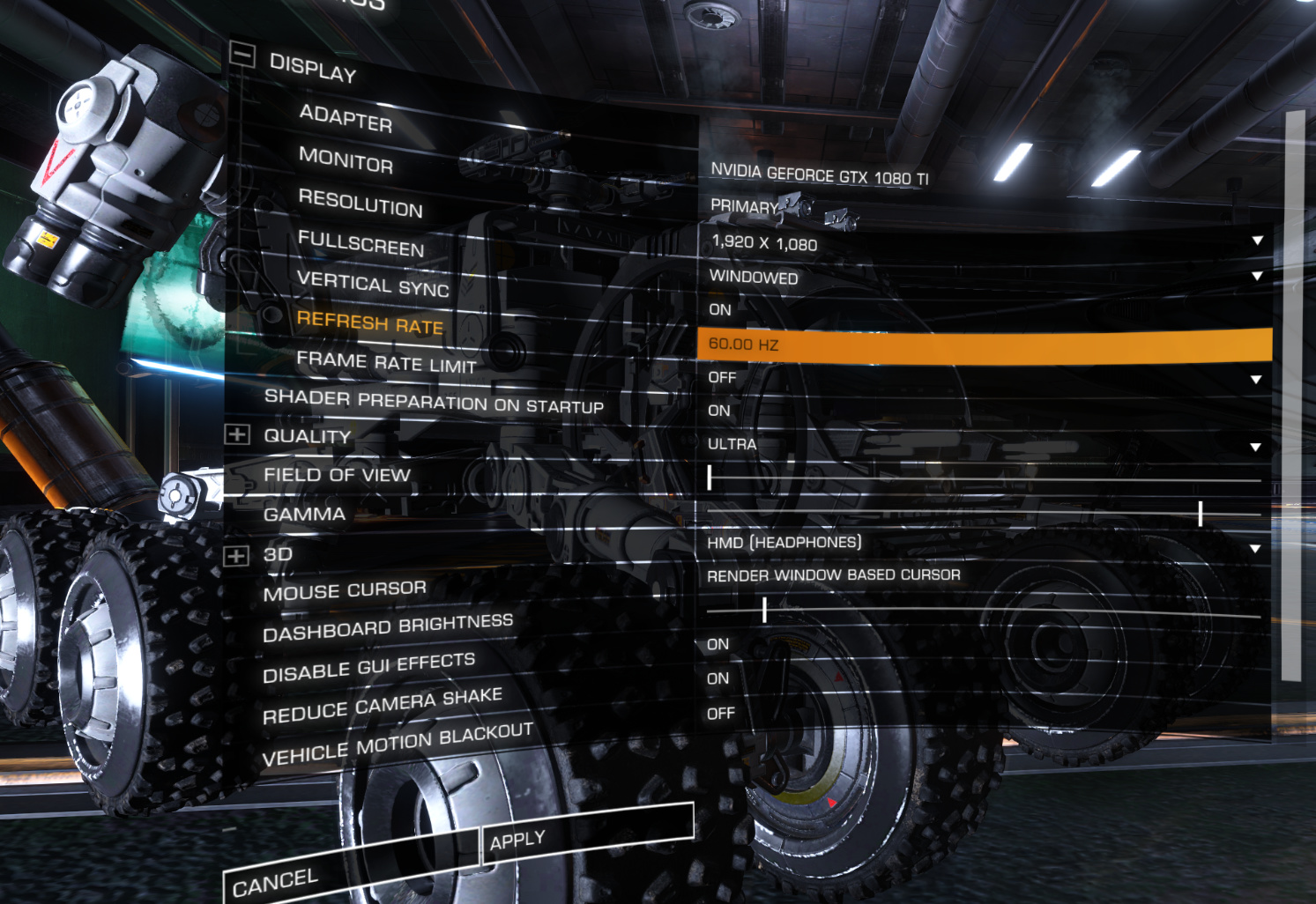 Additional testing with Elite Dangerous - VR content - Pimax